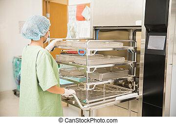 machine, instruments, monde médical, lavage
