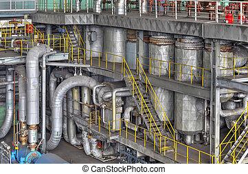 machine, kamer, in, thermisch, krachtinstallatie