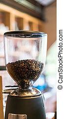machine, koffie bonen