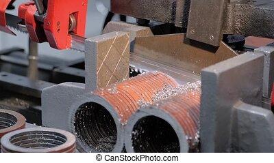 machine, lame, métal, système, refroidissement, workpiece, ...