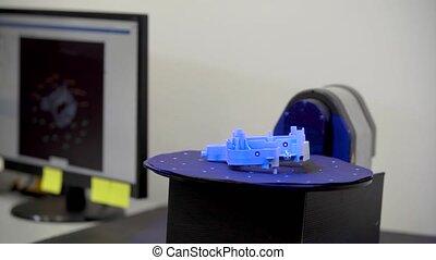 machine, laser, plastique, technically, balayage, professionnel, mesure, utilisation, moldings, 3d