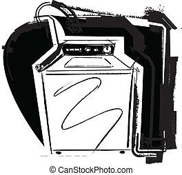 machine, lavage