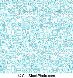 Machine Learning Line Seamless Pattern