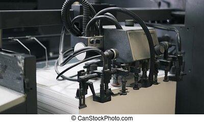 machine, lent, typographie, mouvement, papier, dénombrement