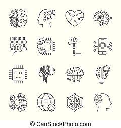 machine, leren, ai, kunstmatige intelligentie, concept, technolog