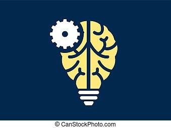 machine, leren, en, ai, concept