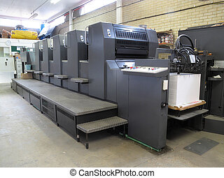 machine, lithographie, impression