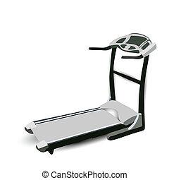 machine, marche, fitness