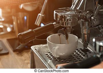 machine, marques, café, cappuccino, café