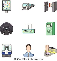 Machine, means, movement and other web icon in cartoon style.Transport, public, machinery, icons in set collection.