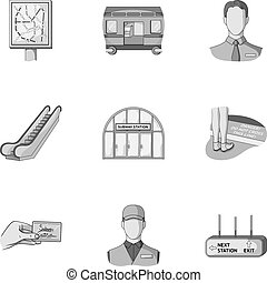 Machine, means, movement and other web icon in monochrome style.Transport, public, machinery, icons in set collection.