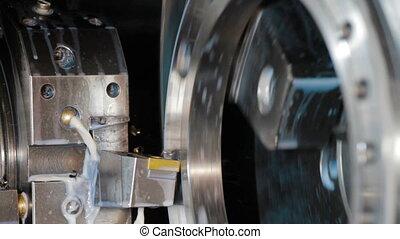 machine, metaal, frezen, details