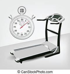 machine, minuteur, fitness