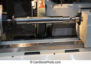machine., molienda, cilíndrico, cnc
