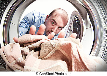 machine, mon, usage, lavage