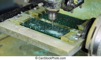 machine., moudre, plastique, confection, copie, bijouterie