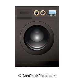 machine, noir, lavage