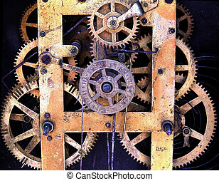 machine of an old clock
