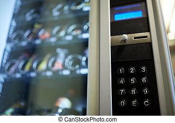 machine, opération, panneau, vente, clavier