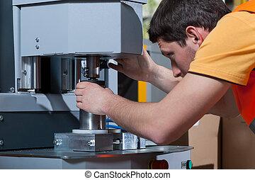 Machine operator at work