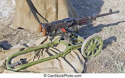 machine, oud, geweer