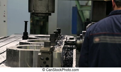 machine, ouvrier, moudre, fonctionnement