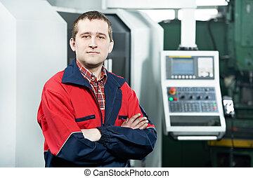 machine, ouvrier, opération, cnc, centre