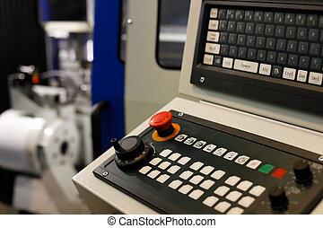 machine, panneau commande, cnc, clavier