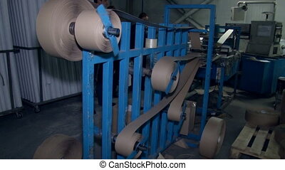 machine, papier, gris, rouleaux