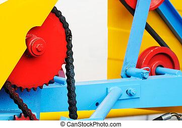 Machine part background - Colour machine part background,...