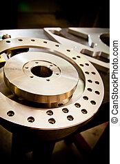 Machine part - Custom-milled machine part made with CNC...