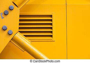 Machine Part - Yellow Metal Machine Part for background