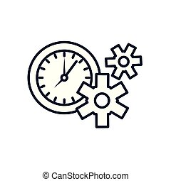 machine, pignons, temps, engrenages, horloge