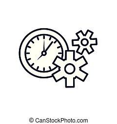 machine, pignons, temps, engrenages, horloge