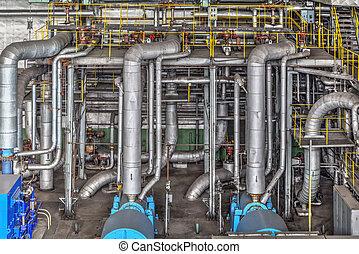 machine, plant, kamer, macht, thermisch