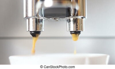 machine pouring coffee