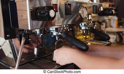 machine, préparation, café, professionnel