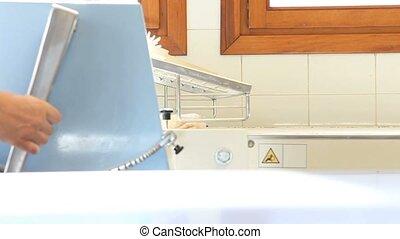 machine prepares the dough