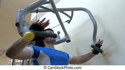 machine, presse, poitrine, exercisme, homme