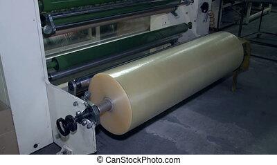 machine, production, pellicule, fonctionnement