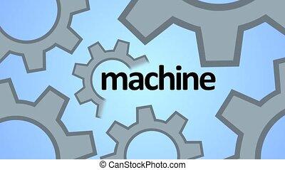 Machine, progress, teamwork. Technology and techno shapes....
