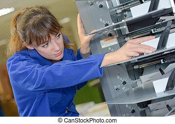 machine, réparer, complexe