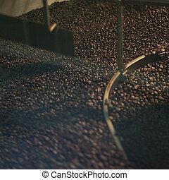 machine, roaster, koffie