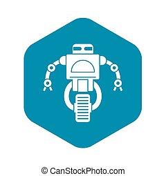 Machine robot icon, simple style