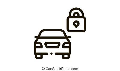 Machine Safe Closed Icon Animation. black Machine Safe Closed animated icon on white background