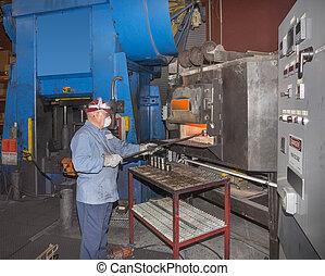 Machine shop worker