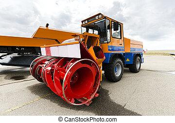 machine snow blower