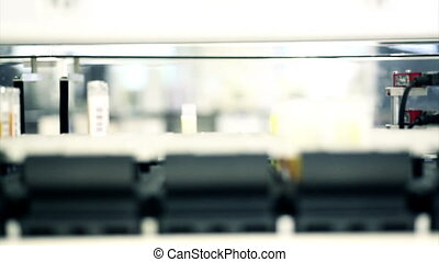 machine sorting blood samples in hospital