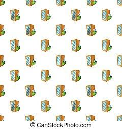 Machine spilling beer pattern, cartoon style