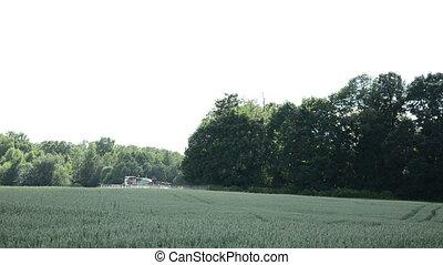 machine spray field
